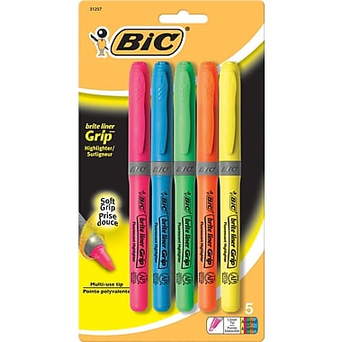BIC® Brite Liner® Grip Highlighters