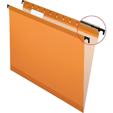 Pendaflex SureHook Reinforced Hanging File Folders, Orange, Letter Size, 20/Bx