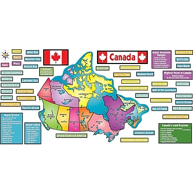 Teacher's Friend Publications Map of Canada! Bulletin Board Set