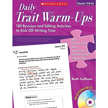 Scholastic Daily Trait Warm-Ups 180 Revision and Editing Activities to Kick Off Writing Time, Grades 3 and Up