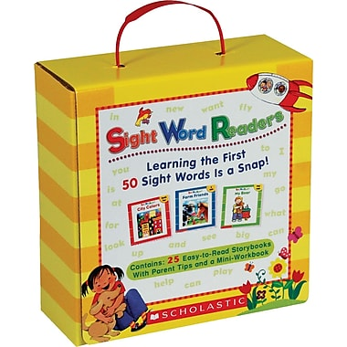 Scholastic Sight Word Readers Boxed Set Learning the First 50 Sight Words Is a Snap!