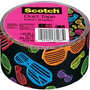 "Scotch® Brand Duct Tape, Neon Shades, 1.88"" x 10 Yards"