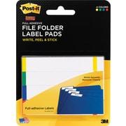 Post-it® Super Sticky File Folder Label Pads