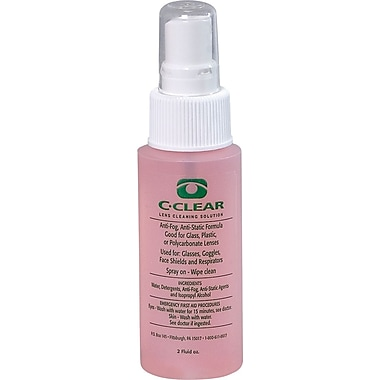 Dentec C-Clear Lens Cleaning Solution 2 oz. Bottle with Spray Pump