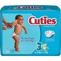 Cuties Premium Baby Diapers, Size 3, 144/Case