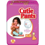 Cuties™ Training Pants, Girl 2T-3T, 104/Case