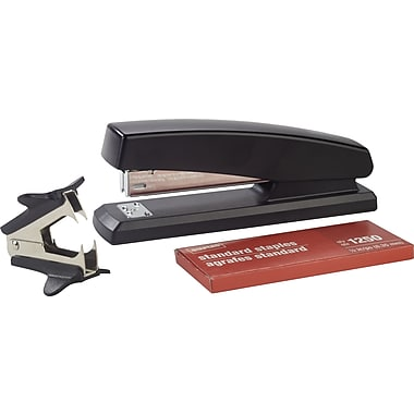 Staples Standard Full Strip Stapler Combo Pack, 20 Sheet Capacity, Black