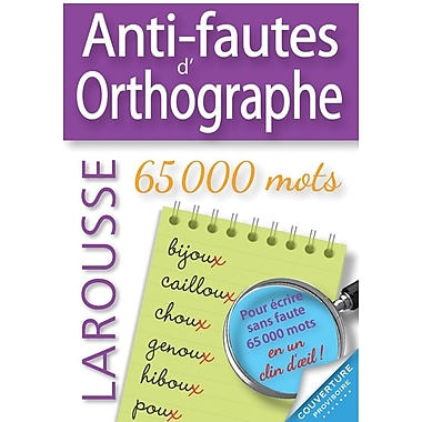 French Reference Book - Larousse Grammaire Anti-Fautes D'Orthographe