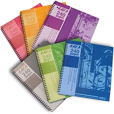 Louis Garneau Spiral Notebook, 240 Pages
