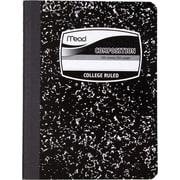 "Mead Five Star Square Deal  Black Marble Composition Book, College Ruled, 1-Subject, 9-3/4"" x 7-1/2"""