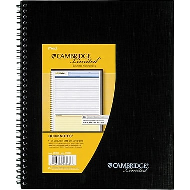 Cambridge Limited® QuickNotes® Business Notebook, 8 1/2