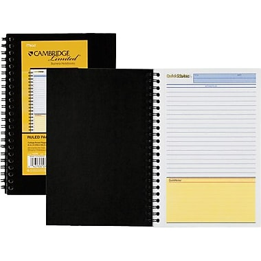 Cambridge® QuickNotes® Business Notebook, 1-Subject, 5in. x 8in.