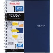 Mead® Five Star® Wirebound Notebook, 1-Subject, College Ruled, 8-1/2 x 11, Navy