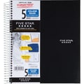 Mead® Wirebound Notebook, 5-Subject, Black, 8-1/2in. x 11in.