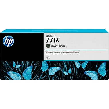 HP DesignJet 771A Matte Black Ink Cartridge, 3/Pack (B6Y39A)