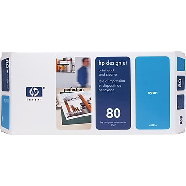 HP DesignJet 80 Cyan Printhead and Cleaner (C4821A)