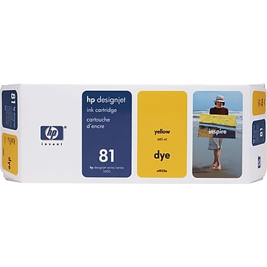 HP DesignJet 81 Yellow Dye Ink Cartridge (C4933A)
