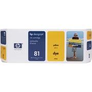 HP – Cartouche d'encre teintée jaune DesignJet 81 (C4933A)