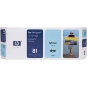 HP DesignJet 81 Light Cyan Dye Ink Cartridge (C4934A)