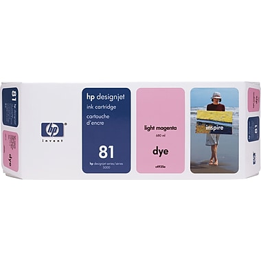 HP DesignJet 81 Light Magenta Ink Cartridge (C4935A)