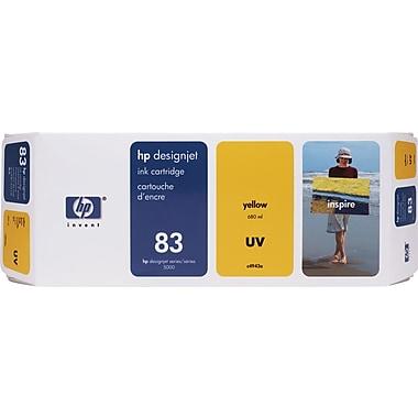 HP – Cartouche d'encre UV jaune DesignJet 83 (C4943A)