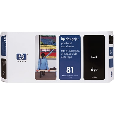 HP DesignJet 81 Black Dye Printhead and Cleaner (C4950A)