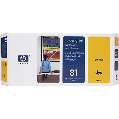 HP DesignJet 81 Yellow Dye Printhead and Cleaner (C4953A)