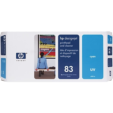 HP DesignJet 83 Cyan UV Printhead and Cleaner (C4961A)