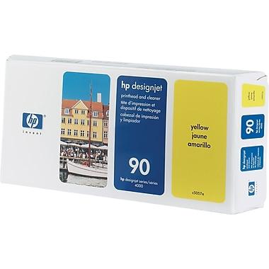 HP – Tête d'impression jaune et nettoyant 90 (C5057A)