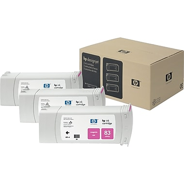 HP 83 Magenta UV Ink Cartridge, 3/Pack (C5074A)