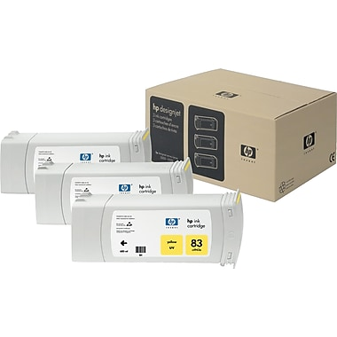 HP 83 Yellow UV Ink Cartridge, 3/Pack (C5075A)