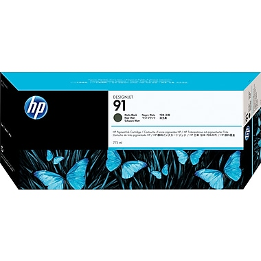 HP – Cartouche d'encre noire mate 91, paq./3 (C9480A)
