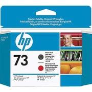 HP – Tête d'impression noire mate et rouge chromatique 73 (CD949A)