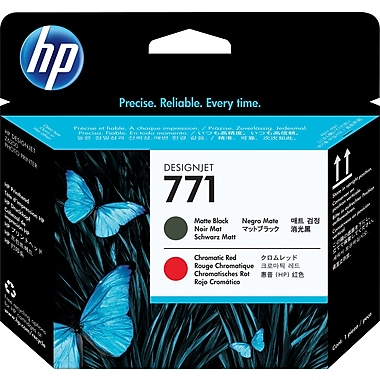 HP 771 Matte Black and Chromatic Red Printhead (CE017A)