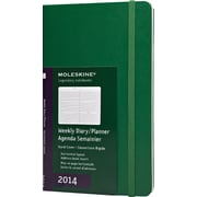 Moleskine 2014 Weekly Planner, Horizontal, 12M, Large, Oxide Green, Hard Cover, 5 x 8-1/4