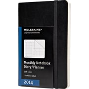Moleskine 2014 Monthly Planner, 12M, Pocket, Black, Soft Cover, 3-1/2 x 5-1/2