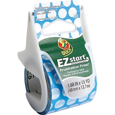 Duck Brand EZ Start Prints Fashion Packing Tape Polka Dots