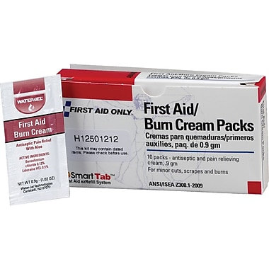 First Aid Only First Aid/Burn Cream, 0.9 gm, 10/box