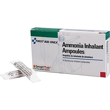 First Aid Only™ Ammonia Inhalants, 10/box