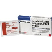 First Aid Only™ Povidone-Iodine Infection Control Wipes, 10/Box