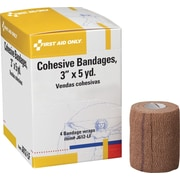 """First Aid Only™ Cohesive Elastic Bandage Wrap You Can Tear, Latex-free, 3"""" x 5 yd, 4/box"""