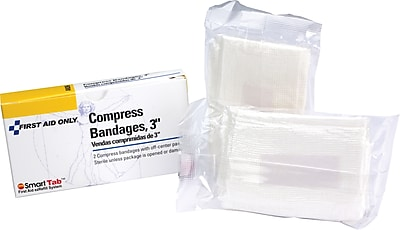 First Aid Only Compress Bandage Off Center 3 2 box
