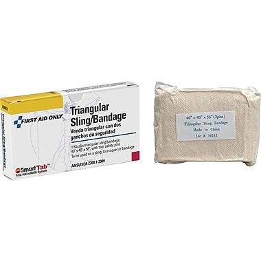 First Aid Only Triangular Sling/Bandage w/ 2 Safety Pins, 40in. x 40in. x 56in.