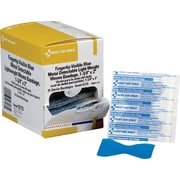 First Aid Only™ Fingertip Bandage, Blue Metal Detectable, Woven, 1 3/4 x 2, 25/box