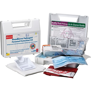 First Aid Only Bloodborne Pathogen/Personal Protection Kit w/ 6 pc CPR Pack, 31 pieces