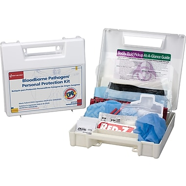 First Aid Only Bloodborne Pathogen/Personal Protection Kit w/ Microshield, 26 pieces