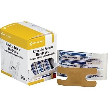 First Aid Only ™ Knuckle Bandage, Fabric, 40/box