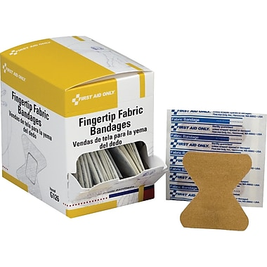 First Aid Only Fingertip Bandage, Fabric, 40/box