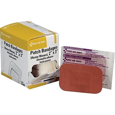 First Aid Only Patch Bandage, Heavy Woven, 25/box