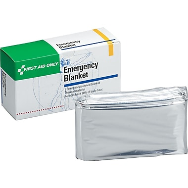 First Aid Only Emergency Blanket, 52in. x 84in., 1/box